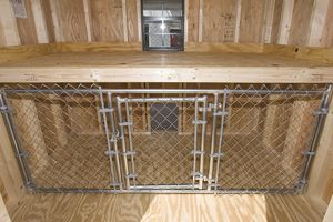FOR INSIDE BUILDING/SHELTER FOR KENNEL RUNS, POSSIBLY MAY A TABLE/STORAGE AREA ON TOP.