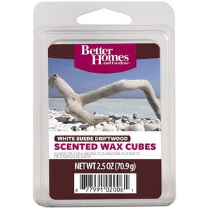 Better homes and gardens white suede driftwood scented wax - Better homes and gardens scented wax cubes ...