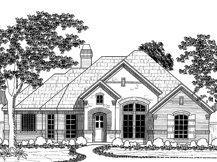 french country house plan with 2177 square feet and 4 bedrooms from dream home source house plan code dhsw32729 house plans pinterest talon - 1 Story French Country House Plans