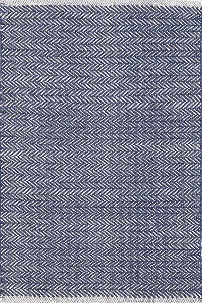 #DashAndAlbert Herringbone Indigo Woven Cotton Rug