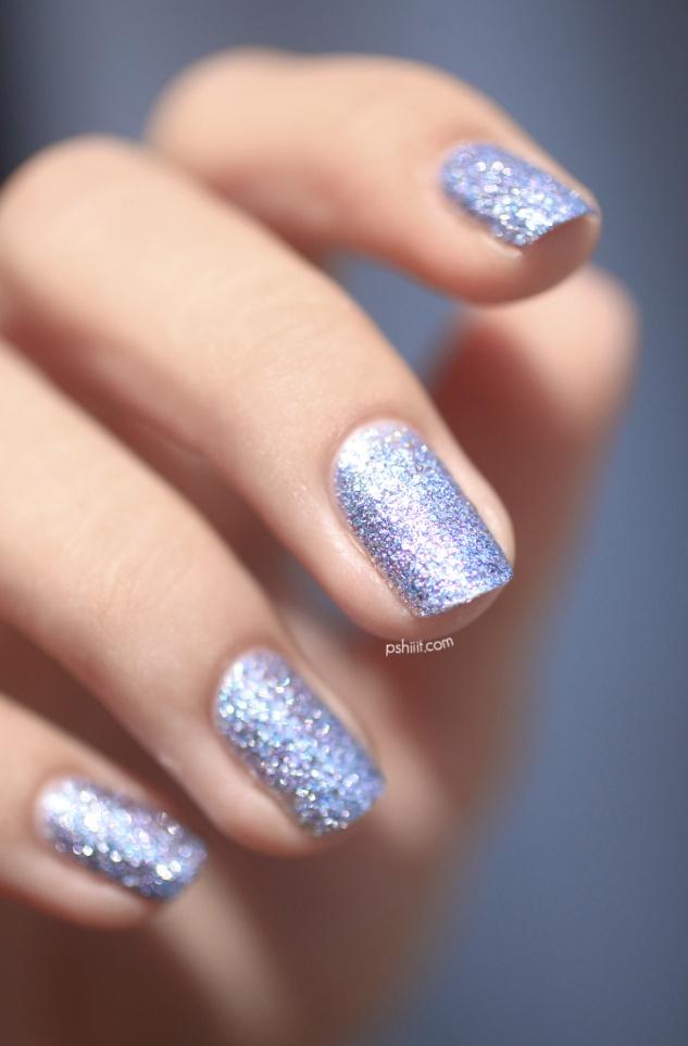NailsInc - 3D Glitter nails - silver