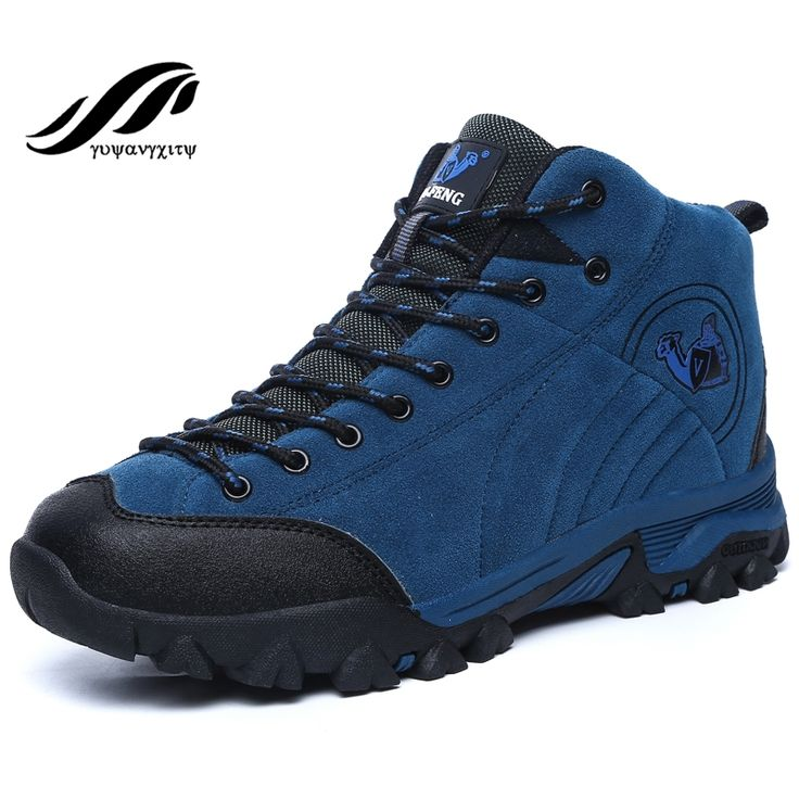(34.30$)  Watch more here - http://ai8wb.worlditems.win/all/product.php?id=32733439216 - New hot sale autumn&winter high-top hiking shoes antiskid warm ski men outdoor shoes cheap authentic trekking shoes