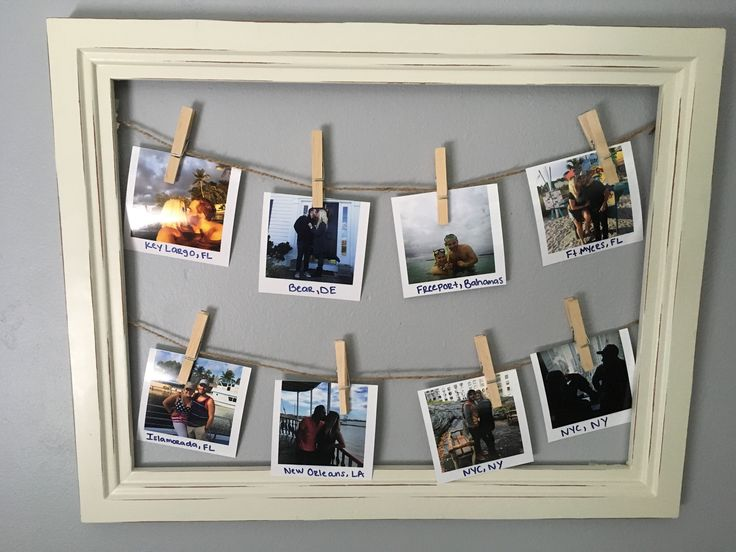 DIY picture frame clothespin travel