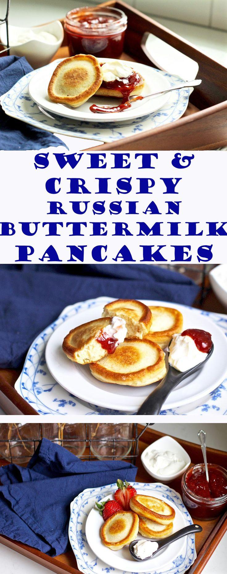 Sweet & Crispy Russian Buttermilk Pancakes
