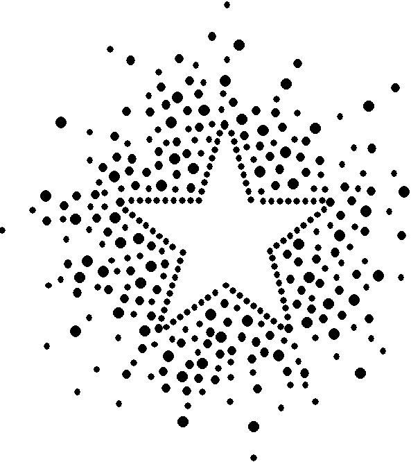 ster patroon, mooi om in een blik te slaan