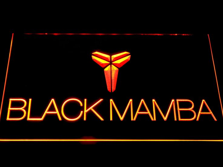 Los Angeles Lakers Kobe Bryant Black Mamba Logo LED Neon Sign