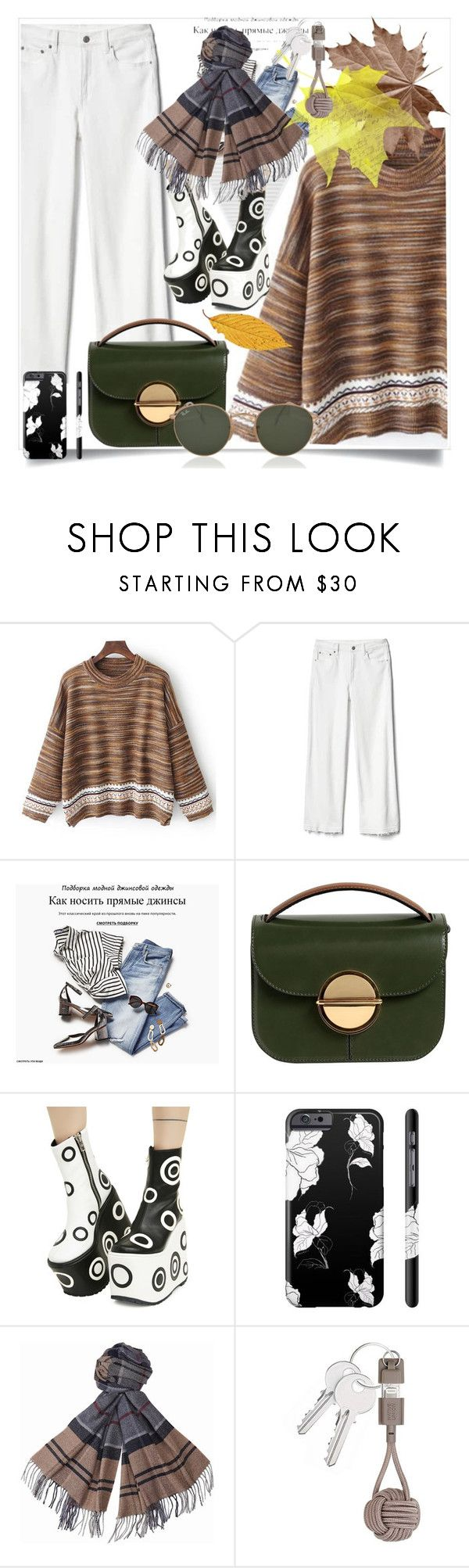 """Sweater in Autumn"" by ilona-828 ❤ liked on Polyvore featuring Gap, Marni, Current Mood, Barbour, Native Union and Ray-Ban"