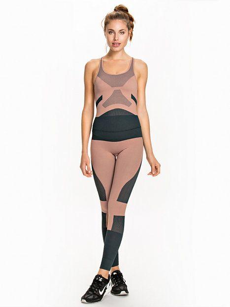 Yo Sl Allinone - Adidas By Stella Mccartney - Pink - Tights - Sportkläder - Kvinna - Nelly.com
