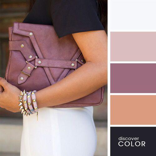 Combina colores. Color ciruela y tonos claros