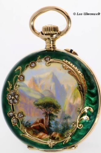 A Very Fine Borel 14k Gold Hunting Case Enamel Pocket Pocket Watch | eBay