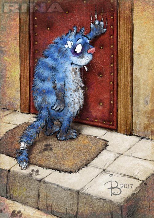 Просмотреть иллюстрацию Возвращение блудного кота из сообщества русскоязычных художников автора Рина З. в стилях: Классика, нарисованная техниками: Растровая (цифровая) графика.