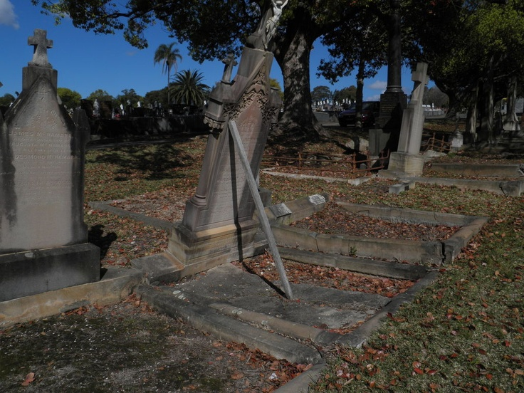 Old grave in Rookwood cemetery.
