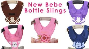 Bebe Baby Bottle holder sling. Teaches baby to hold bottle.