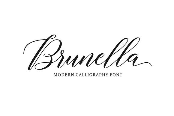 Brunella Script (30% Off) by Seniors on @creativemarket