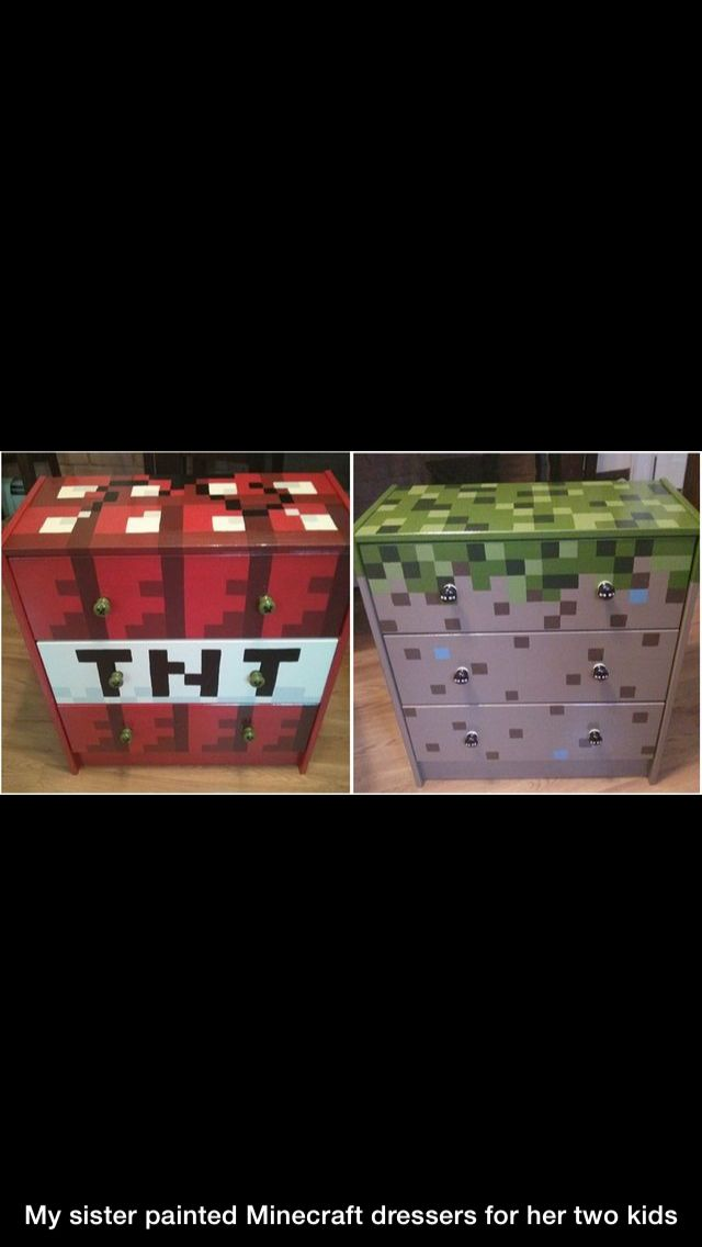 Minecraft dressers for boys