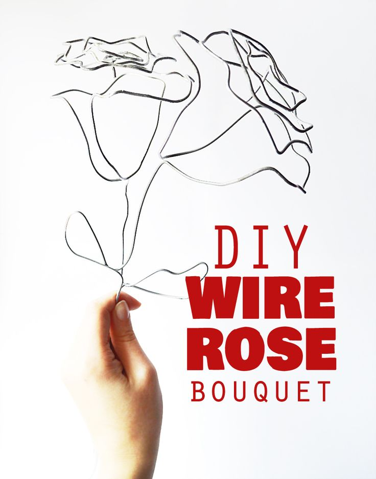 diy wire rose industrial decor diy brico deco. Black Bedroom Furniture Sets. Home Design Ideas