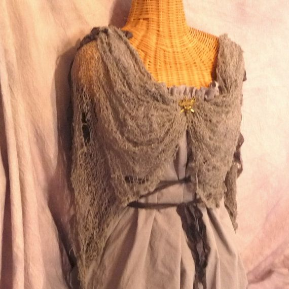 Grey Shipwrecked Dress Halloween Costume Corset Look by SavoyFaire, $89.00