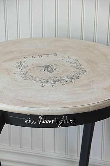 Beautiful painted table, by Miss Flibberti Gibbet!