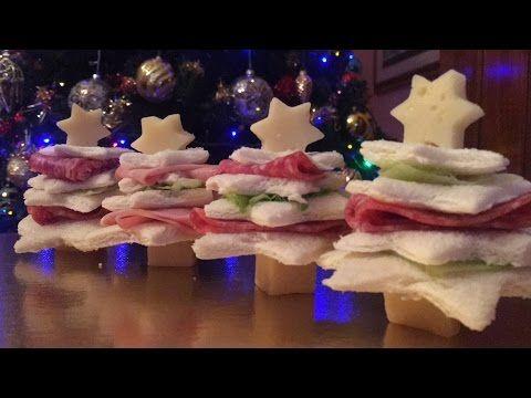 ANTIPASTI DI NATALE - Alberelli con pane da tramezzini || Ricette natalizie facili e veloci - YouTube