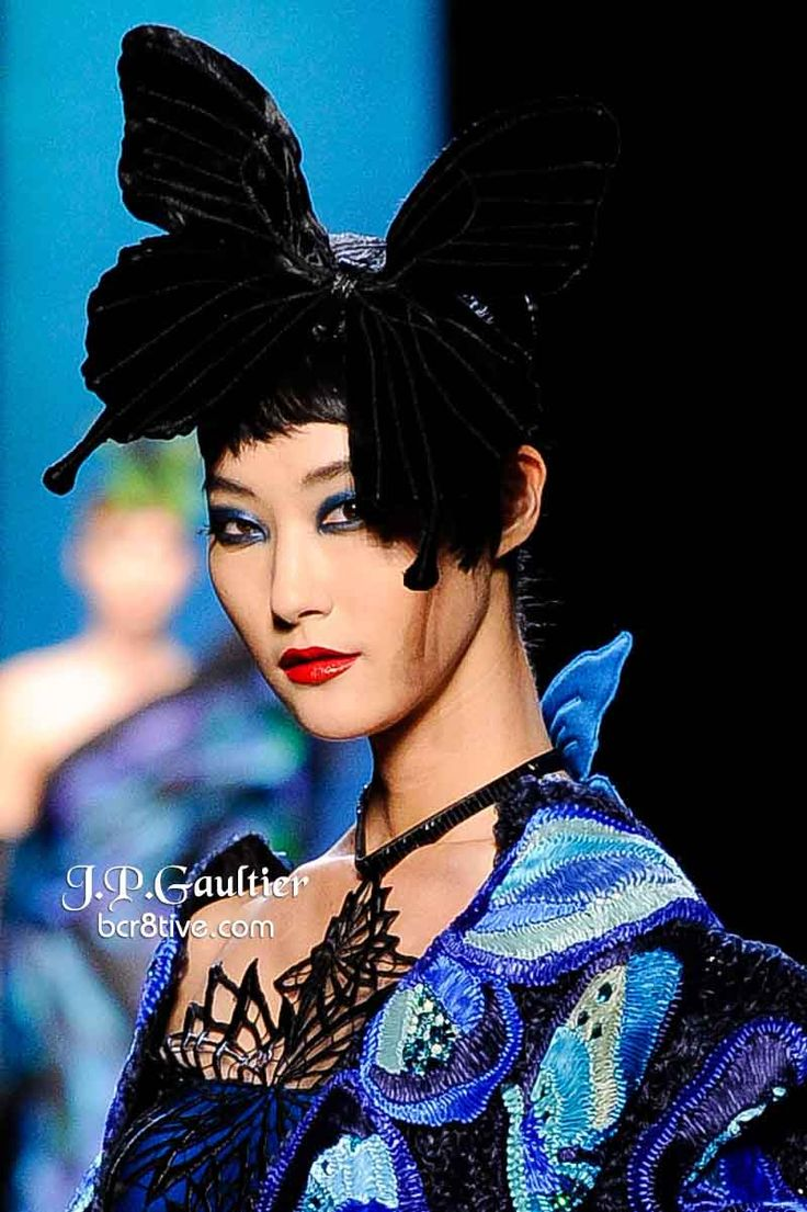 Jean Paul Gaultier Spring 2014 Couture is filled with designs formed around a central theme of butterflies that is supremely imaginative & memorable. - 4