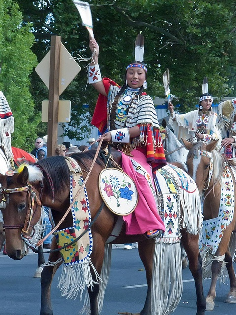 Members of the Cayuse, Umatilla, Nez Perce and Walla Walla tribes are joined by Native Americans from around the Pacific Northwest in the Pendleton Roundup (36) by mharrsch, via Flickr