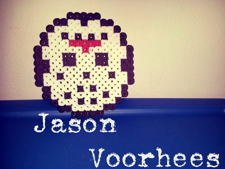 【TUTORIAL】How to Make a Perler Bead Jason Voorhees Mask