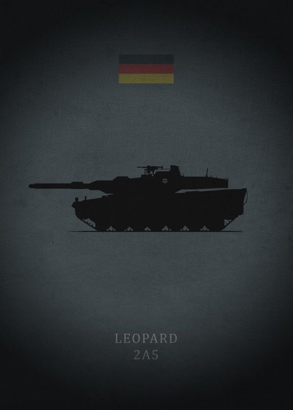 Picture Poster Battlefield Art Army Dutch Military Leopard Tank Framed Print
