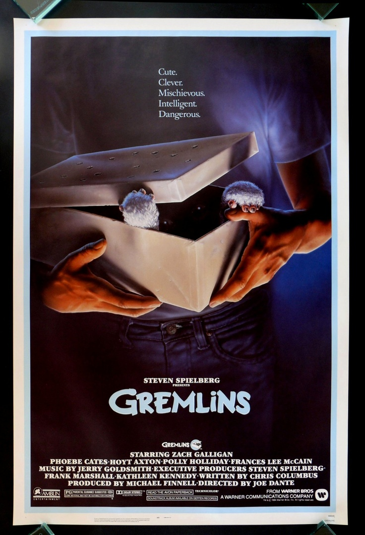 "GREMLINS 1984 - Who knew all the ""rules"" for taking care of gremlins also applied to parenthood.:)"