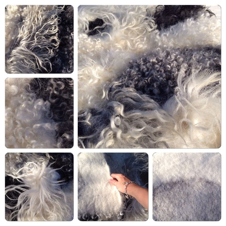 DIY - how to felt a rug from raw fleece / sheep's wool / locks