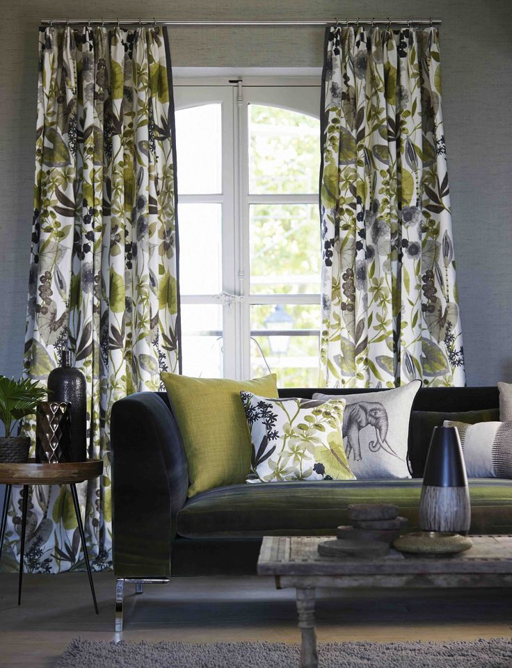#Harlequin has produced #Amazilia, a stunning collection of #fabrics based on extravagant #tropical motifs in magnificent colourways.