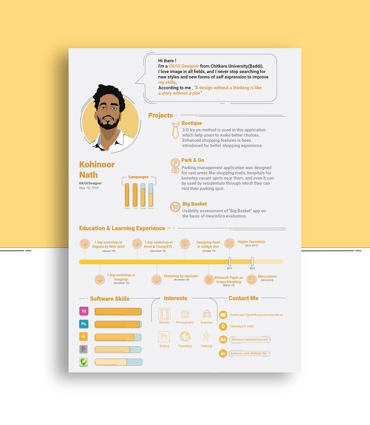 ui ux resume example