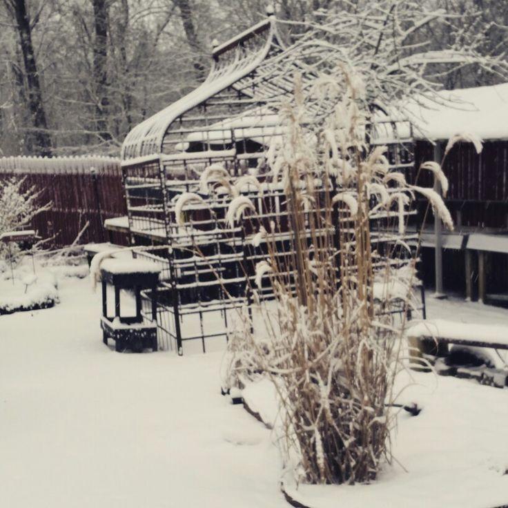 Klockaregården i vinterskrud.