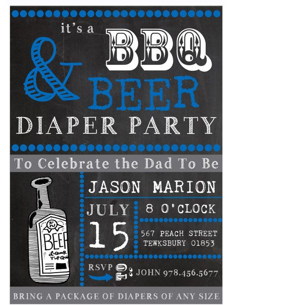 DadToBe Beer BBQ and Diaper Party Chalkboard by CustomPartyDecor, $8.99