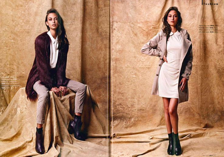 NEXT Magazine NZ featuring Ziera Shoes. May 2014 - page 90-91, Jasper (Eggplant) and Jasper (Black). View Ziera boots - http://zierashoes.com/Shoes/Boots