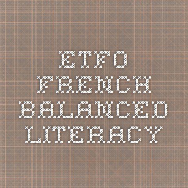 etfo french balanced literacy