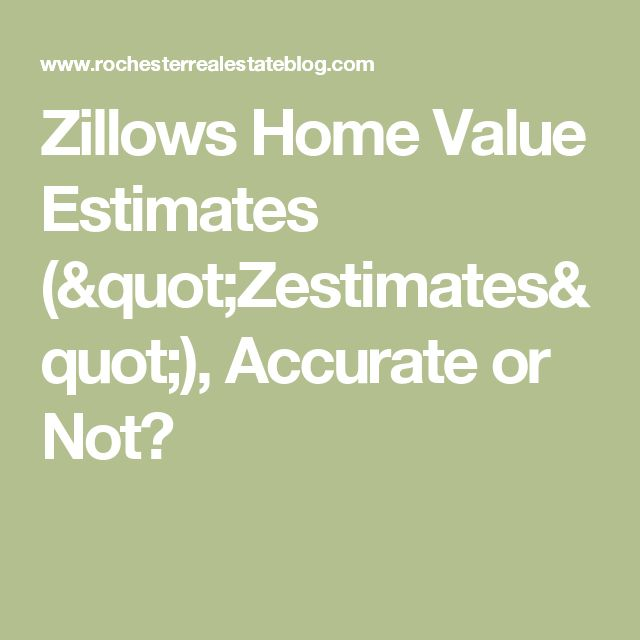 """Zillows Home Value Estimates (""""Zestimates""""), Accurate or Not?"""