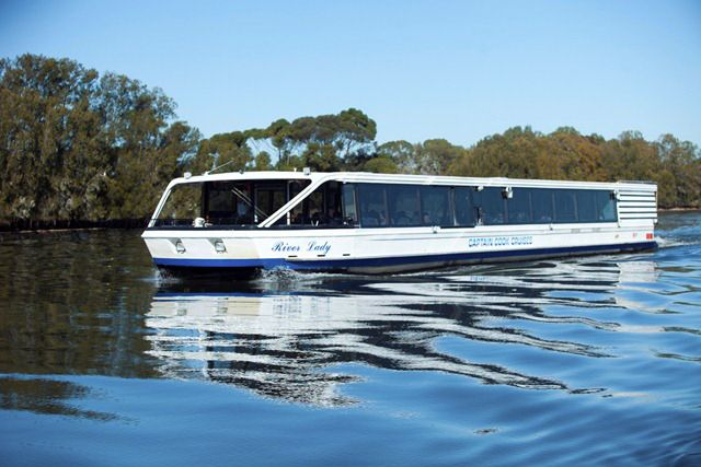 Indulge and enjoy a day out on the Swan River as you cruise into the picturesque upper reaches of the Swan Valley with a Captain Cook Wine Cruise. The cruise stops at the iconic Sandalford Estate for a wine tour, tastings and a 2 course gourmet lunch, with a buffet dessert on the return journey with live entertainment. Departs 9.45am daily, $165 per adult.