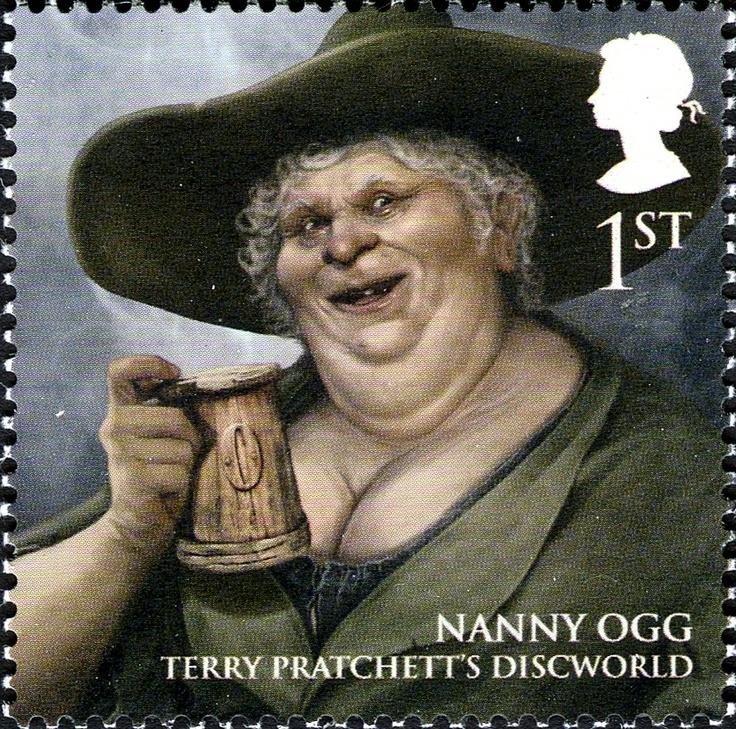 Literary Stamps: Pratchett, Terry (b. 1948)