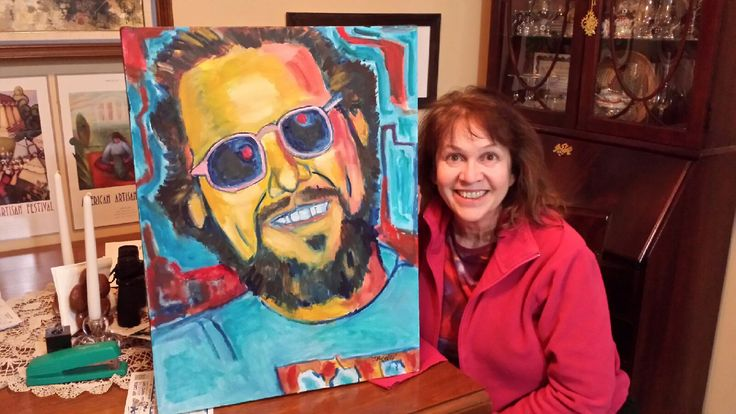 Painting of Tim Lohmeier with his sister Catherine   2017......