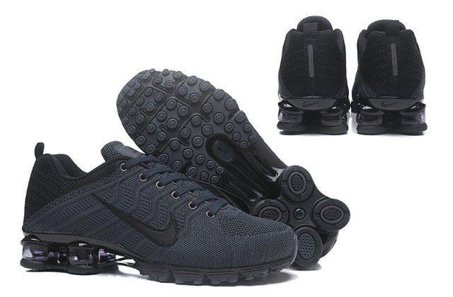 Nike Air Flyknit Shox Shox Charcoal Nz Black Gray Mens xBWQCerdoE