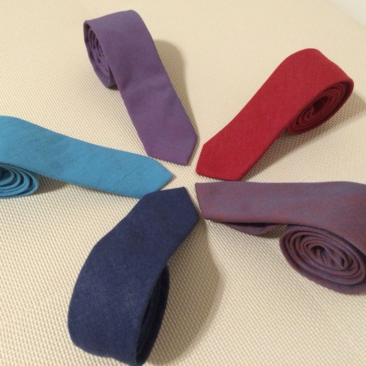 Denim ties. 5 different colors. Great for women and men.
