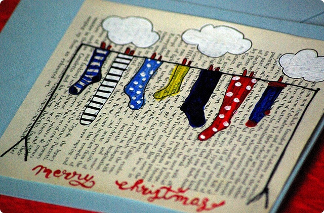 A homemade Christmas card! What a great idea!
