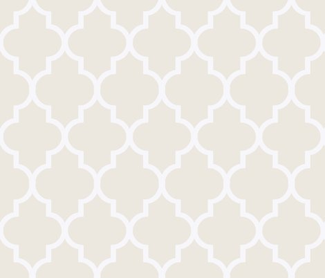 cream and white ogee wallpaper