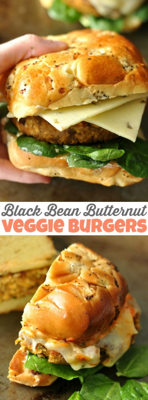 Homemade Black Bean Butternut Veggie Burgers