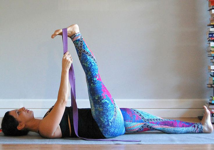 Supta Padangusthasana (Reclining Hand-to-Big-Toe Pose) http://www.rodalesorganiclife.com/wellbeing/the-3-safest-ways-to-stretch-tight-hamstrings/supta-padangusthasana-reclining-hand-to-big-toe-pose