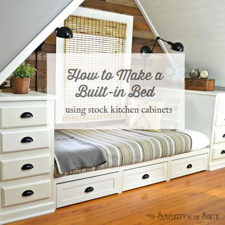 Stock Kitchen Cabinets: 17 Best Ideas About Built In Bed On Pinterest