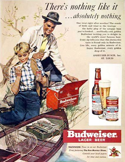 Budweiser Beer 1950 Absolutely Nothing - www.MadMenArt.com | Through this…
