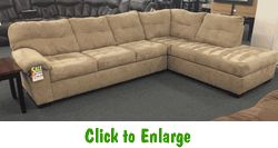 Velocity Latte Sectional by Simmons at Furniture Warehouse | The $399 Sofa Store | Nashville, TN