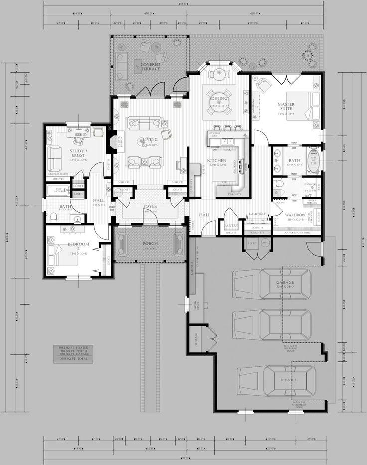 Downsized retirement plan gardenweb wisdom pinterest for Retirement house plans