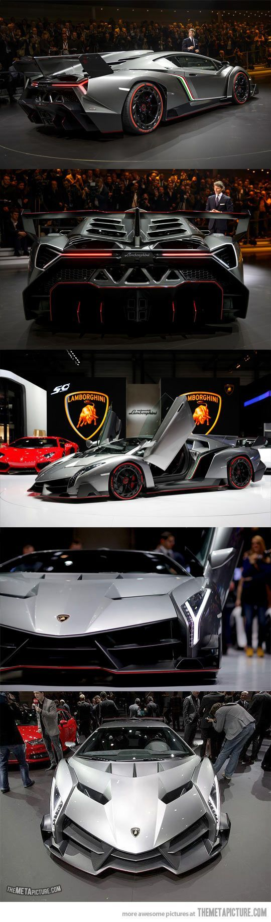 Lamborghini Veneno. Seulement 3 exemplaires dans le monde. Prix : plus de 3 millions d'euros.